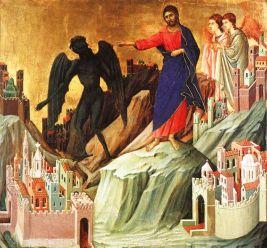 Duccio da Buoninsegna, Tentazioni di Cristo