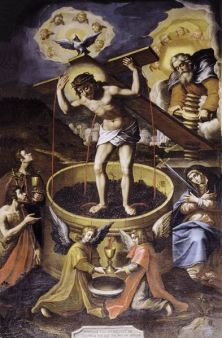 Torchio Mistico. Ernst Van Schayck - Secondo-terzo decennio del XVII sec.  Chiesa di S. Agostino, Matelica (Macerata)