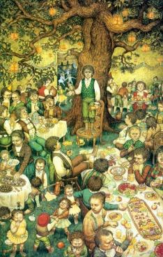 Una festa a lungo attesa – Illustrazione di Inger Edelfeld